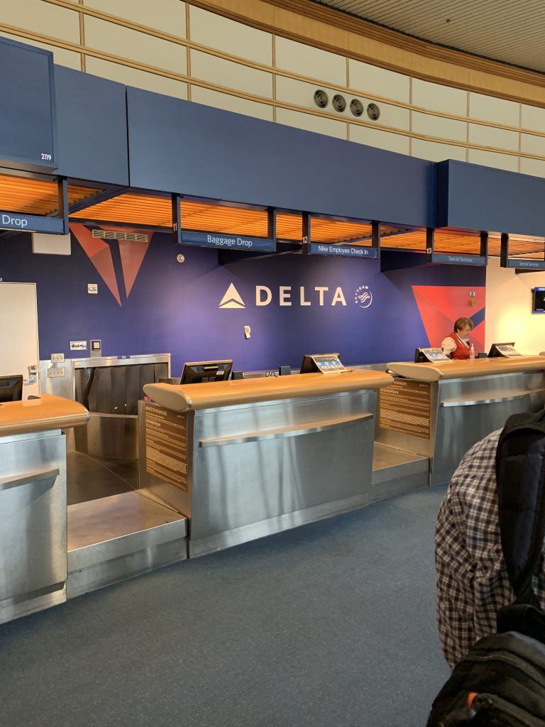 Delta special Nike counter
